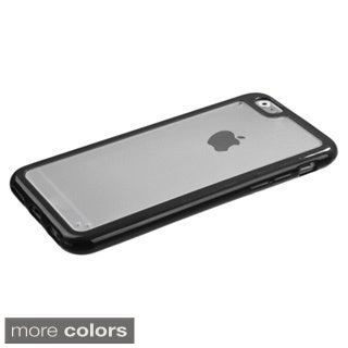 BasAcc Clear PC Colorful Bumper TPU Gummy Case for Apple iPhone 6 4.7-inch