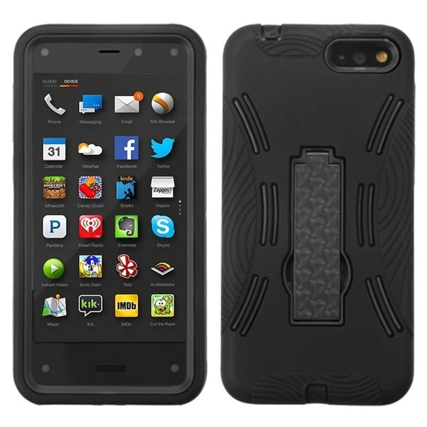 INSTEN Stand Rugged PC Soft Silicone Hard Plastic Hybrid Phone Case Cover for Amazon Fire Phone 13845790