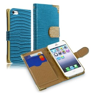 BasAcc Lanyard Magnetic Snap Wallet Leather Case forApple iPhone 5/ 5S