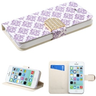 BasAcc Card Wallet Magnetic Snap Leather Case for Apple iPhone 5C