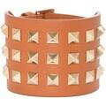 Valentino Calf Leather Rockstud Wide Bracelet