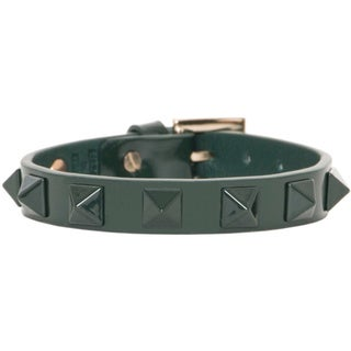Valentino Pyramid Rockstud Leather Bracelet