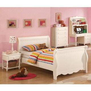 Furniture of America Cornelia White Youth 3-Piece Bedroom Set