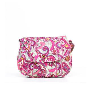 Vera Bradley 'Saddle Up' Paisley Meets Plaid Shoulder Bag