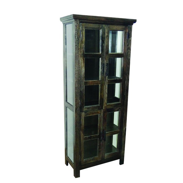 Charcoal Green Tall Cabinet