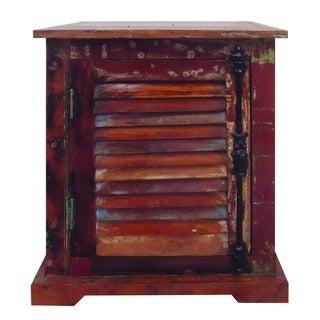 Yosemite Home Decor Hand-painted Reclaimed Wood Cabinet
