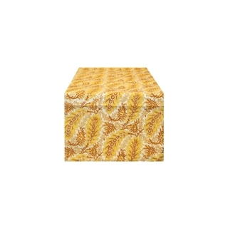 Yellow Feather Table Runner (India)