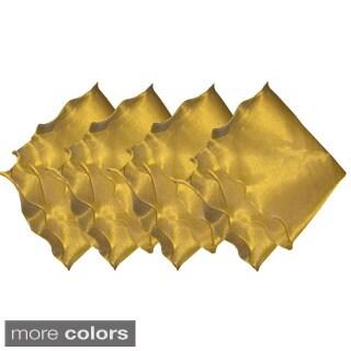 Set of 4 Wave Tissue Napkins (India)