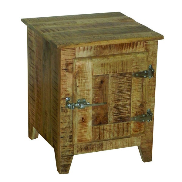 Natural Mango Bedside Accent Cabinet