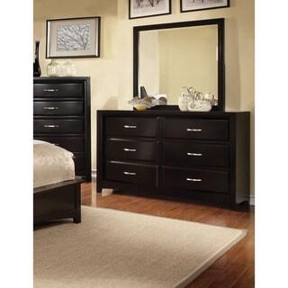 Furniture of America Lorraine Modern 2-Piece Dresser and Mirror Set