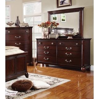Furniture of America Sky Classic 2-piece Dresser and Mirror Set