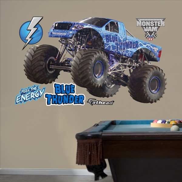 Fathead Monster Jam 'Blue Thunder' Wall Decals