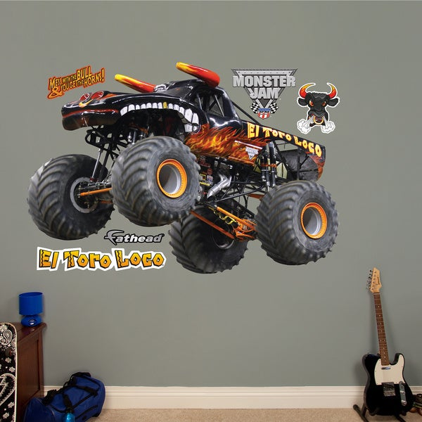 Fathead Monster Jam 'El Toro Loco Black' Wall Decals