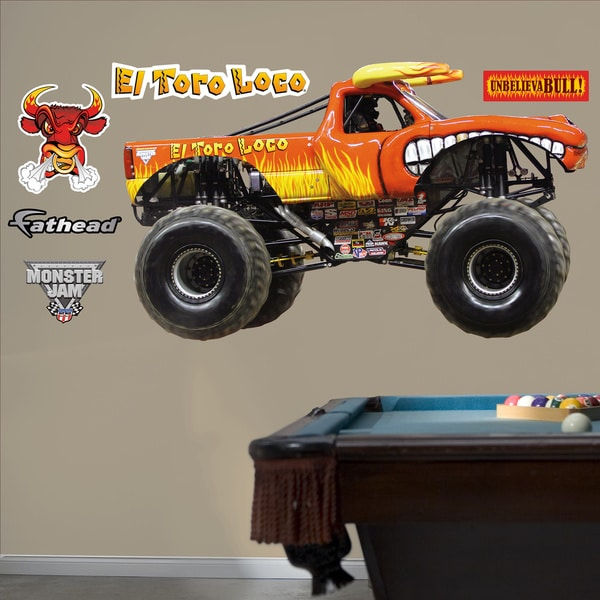 Fathead Monster Jam 'El Toro Loco' Decals