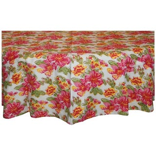 Pink/ Yellow Round Tablecloth (India)