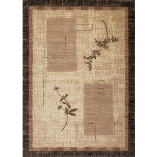 Kodachrom Silken Canvas Cream Area Rug (5'3 x 7'2)
