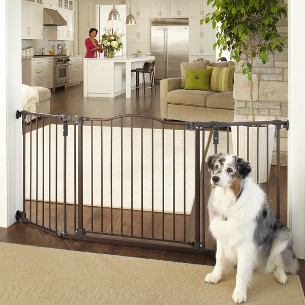 North States Deluxe Decor Wall Mount Matte Bronze Pet Gate