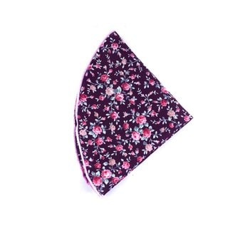 Southern Gents 'Bonnet' Purple Floral Pocket Round with Stitch Trim