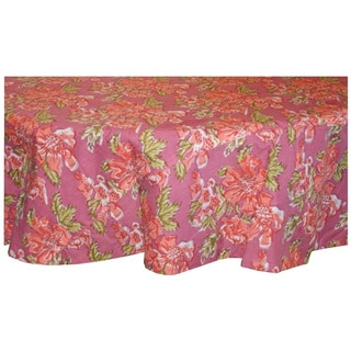 Pink Floral Round Tablelcloth (India)