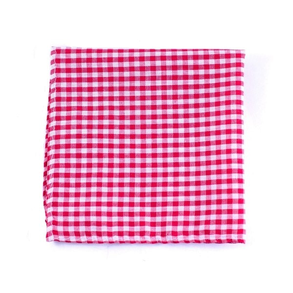 Southern Gents 'Gingham' Red/ White Checkered Pocket Square