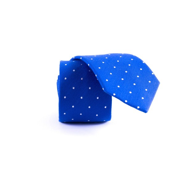 Southern Gents Men's 'Polka Royale' Royal Blue Slim Tie