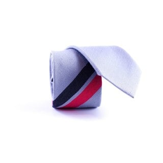 Southern Gents Men's 'Silver Momentum' Silver/ Red/ Black Slim Tie
