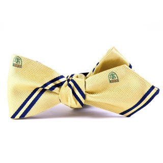 Southern Gents 'Rutger' Yellow Diamond Tip Bowtie