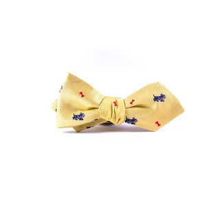 Southern Gents 'Yorkshire' Yellow Silk Diamond Tip Bowtie