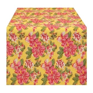 Yellow Floral Table Runner (India)