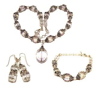 Clear Crystal 3-piece Wedding Jewelry Set