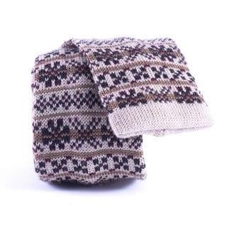 Southern Gents 'Hudson' Brown Knit Slim Tie