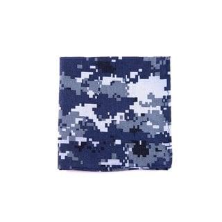 Southern Gents Men's 'Digi Camo' Navy/ Grey/ White Pocket Square