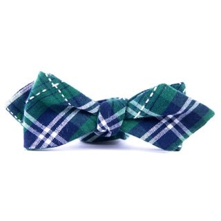 Southern Gents 'Irish Green Plaid' Green Plaid Diamond Tip Bowtie