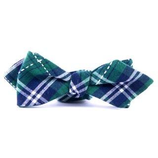 Southern Gents 'Irish Green Plaid' Green Plaid Diamond Tip Bowtie