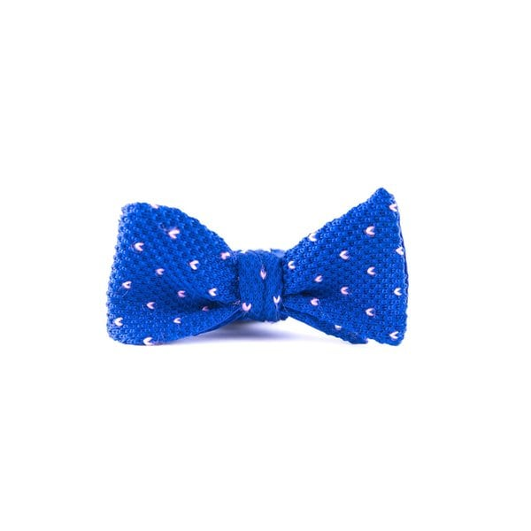 Southern Gents Men's 'Savile Row' Blue Silk Bowtie