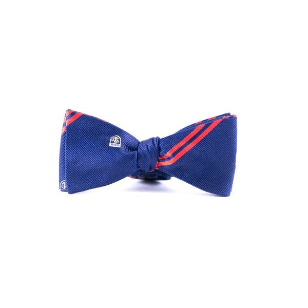 Southern Gents Men's 'Rugby Classic' Navy Blue Silk Bowtie