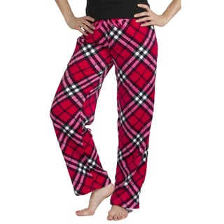Stanzino Women's Plaid Plush Pajama Pants