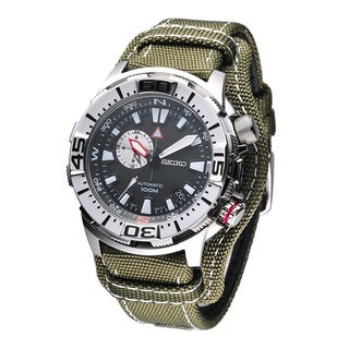 Seiko Men's SSA055K1 Superior Automatic Army Green Watch