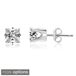 DB Designs 14k Gold Square 1/5ct TDW Diamond Stud Earrings (H-I, I2-3)