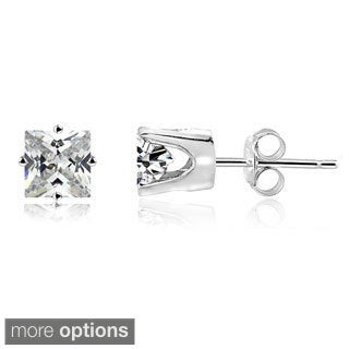 DB Designs 14k Gold Square 1/4ct TDW Diamond Stud Earrings (H-I, I2-3)