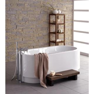 Aquatica Freestanding White Corner Lucite with Microban Acrylic Bathtub