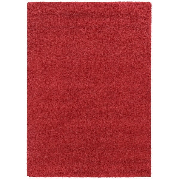 Pantone Universe Focus Shag Red Rug (5'3 x 7'6)