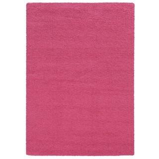 Pantone Universe Focus Shag Pink Rug (6'7 x 9'6)