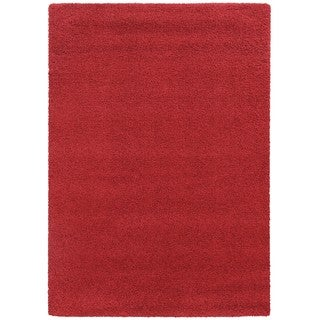 Pantone Universe Focus Shag Red Rug (7'10 x 10'10)
