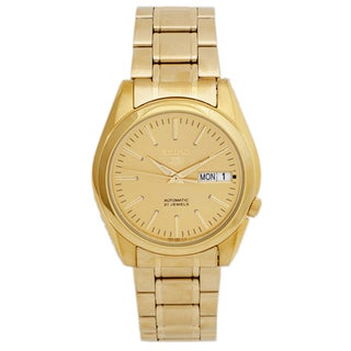 Seiko Men's 5 SNKL48 Goldtone Stainless Steel Watch