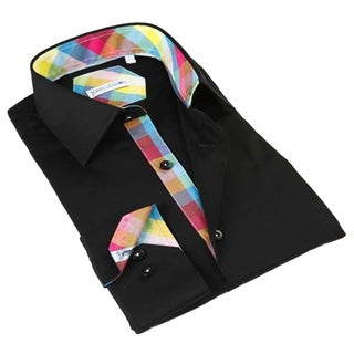 John Lennon Men's Black Long Sleeve Dress Shirt