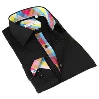 John Lennon Men's Black Long Sleeve Sport Shirt