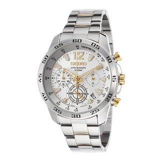 Seiko Men's Stainless Steel SSB127P1 Chronograph Silver Analog Watch