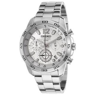Seiko Men's Stainless Steel SSB123P1 Chronograph White Watch