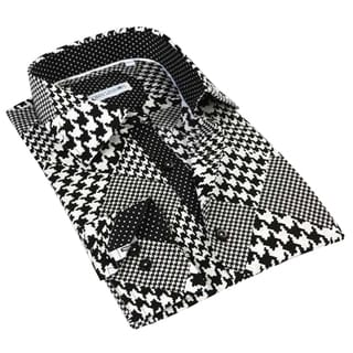 John Lennon Men's Black/ White Long Sleeve Sport Shirt